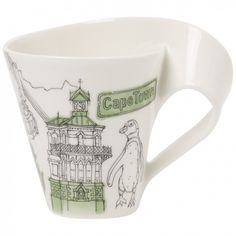 Villeroy & Boch - 'New Wave Caffe' Collection -  'Cities of the World' Mug, 10.1oz., Cape Town