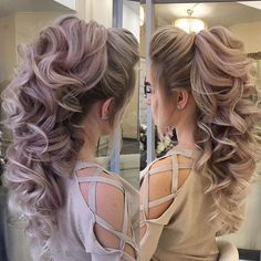 So beautiful! #hairinspiration Wedding Hair And Makeup, Bridal Hair, Hair Makeup, Pagent Hair, Prom Hair, Bride Hairstyles, Pretty Hairstyles, Girl Hair Colors, Hair Romance