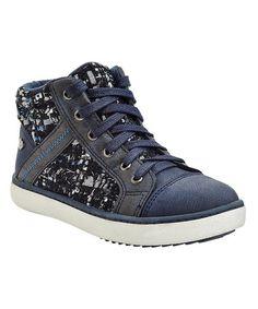 Blue Contrast Sneaker #zulily #zulilyfinds