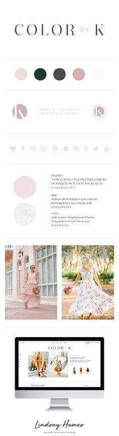 Color by K Blog Design by Lindsay Humes / branding board / logo design / graphic design / mood board
