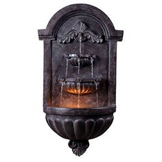 Margate Wall Fountain with Constructed from Resin for Durability ** Click image to review more details. (This is an affiliate link) #IndoorFountainsandAccessories