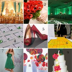 Super ideas for a classy Wizard of Oz themed wedding.