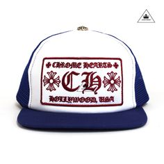 50b6c90e54d9 CH TRUCKER CAP - BLUE WHITE Chrome Hearts