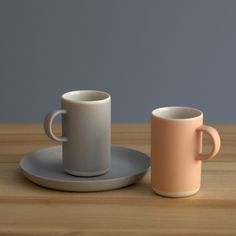 A small, thin porcelain espresso cup handmade for Lokal by ceramics artist Nathalie Lahdenmäki. Glazing on the inside. Dishwasher safe.