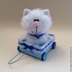 Купить Малыш Котя. - белый, котенок, коты и кошки, котенок игрушка, котик, вязаные коты
