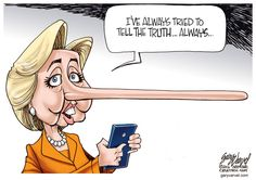 Editorial cartoon by Gary Varvel found on theweek.com on Wednesday, March 2, 2016 / Yes, Hilary we know all too well