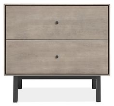 Hudson Wood Nightstands with Steel Base - Modern Nightstands - Modern Bedroom Furniture - Room & Board