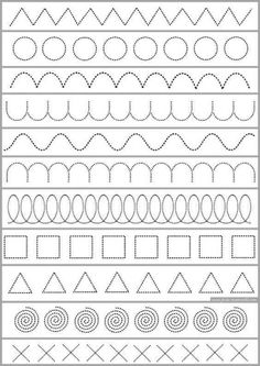 Line Tracing Worksheets for Preschool. √ Line Tracing Worksheets for Preschool. Tracing Horizontal Lines Preschool Basic Skills Fine Motor Preschool Writing, Preschool Learning Activities, Kindergarten Worksheets, Worksheets For Kids, Kids Learning, Teaching Resources, Art Education Resources, Printable Preschool Worksheets, Shapes Worksheets