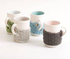 hand knitted mug cosy by linda bloomfield | notonthehighstreet.com