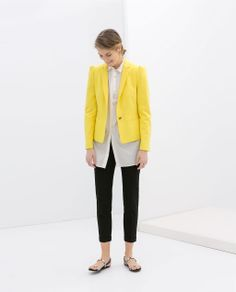 Image 1 of BLAZER WITH GATHERED SHOULDERS from Zara