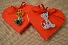Confezioni decorate con tecnica quilling
