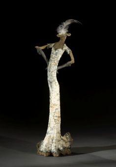 Eric Serritella -  birch trompe l'oeil ceramic