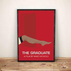 The Graduate Mike Nichols Inspired Art Minimalist by PhinCreative