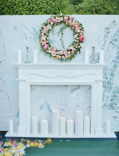 build a mantle to use in home against bare wall when no real fireplace; use in living room, dining room, bedroom... could be portable for those who pcs often