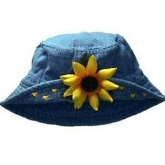 sunflower hat- wore it all the time