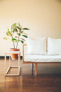 The Frame Planter Side Table / Trey Jones Studio
