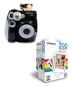 Take a look at this Black Analog Polaroid Camera & Film Set on zulily today!