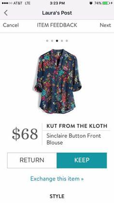 Three quarter length sleeve blouse to wear under cardigan or kimono sweater