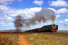 on the De Aar - Kimberley Line. South African Railways, Diamond City, Busses, Steam Locomotive, World Best Photos, Countries Of The World, Past, Passion, Clouds