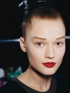 This fall is all about bold makeup--from crazy eye shadow to bright red lips.