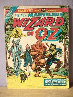 vintage Wizard of Oz comic book number 1 1970's by ShoponSherman, $30.00