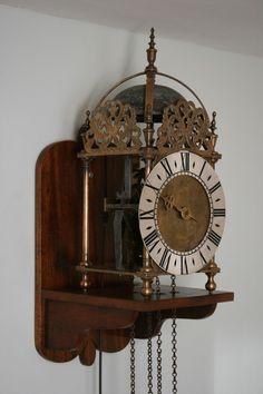 Magnificent c19th/20th Solid Brass Hook & Spike Lantern Clock on Bracket, GWO in Antiques, Antique Clocks, Mantel/Carriage Clocks   eBay