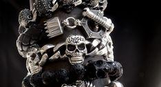 Men's bracelets with edge.