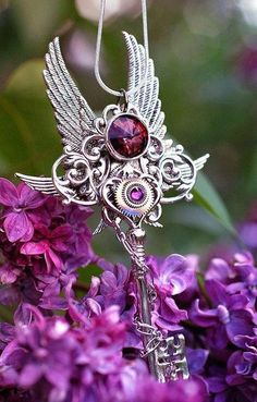 Silver and Amythest...Beautiful ~                `