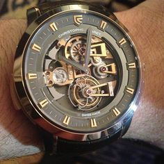 Christophe Claret Soprano Westminster Minute Repeater #Tourbillon #watch in gold and black. Beautiful movement and functions