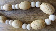 Sautoir tendance naturelle bois écru : Collier par les-ptits-pois-sont-rouges