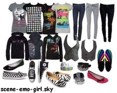 EMO OUTFITS  | scene/emo clothes - Génération scene-queen