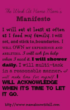I WILL Shower Daily: A Work At Home Mom Manifesto