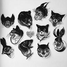 Neotraditionelles Tattoo, Dark Art Tattoo, Tattoo Flash Art, Latest Tattoo Design, Tattoo Designs, Mini Tattoos, Black Tattoos, Tattoo Sketches, Tattoo Drawings