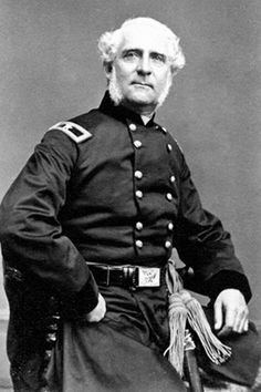 Maj. Gen. James S. Wadsworth (1807-1864). The politician served as brigade and division commander and famously fought at Gettysburg. When his division was dissolved he became a special inspector and assisted in raising the U.S. Colored Troops. In 1864 he was given a new division and was mortally wounded while leading it into the Battle of the Wilderness. He had been promoted to Major General the day before he was shot; but the promotion was posthumously withdrawn and substituted with a…