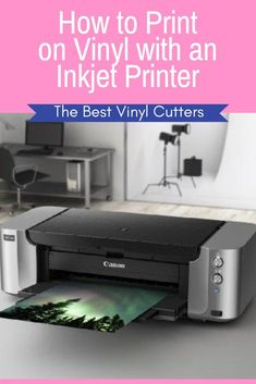 How to Print on Vinyl with an Inkjet Printer. Would you like to know how to print on vinyl using the inkjet printer that you have at home? Check out this tutorial and important tips for printing on vinyl with an inkjet printer. Best Inkjet Printer, Vinyl Printer, Printer Scanner, Printer Paper, Laser Printer, Best Printers, Home Printers, Diy Vinyl Projects, Vinyl Crafts