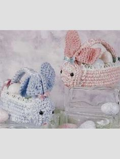 Easter basket free crochet pattern 365 crochet easter spring summer crochet patterns collect all the goodies from the easter bunny in these adorable baskets size pink basket tall x long negle Gallery