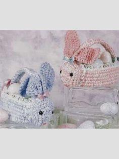 Free Crochet Bunny Basket Patterns. FREE PATTERNS 5/14.