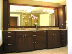 dark wood in bathroommaster bathroom double vanity traditional bathroom chicago follyn builders developers