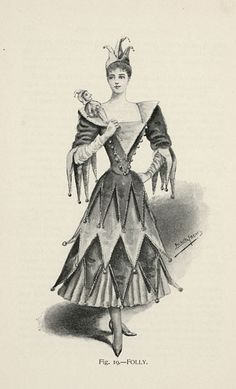 Folly from 'Fancy Dresses Described; or, What to Wear at Fancy Balls,' by Hold, Ardern, 1896