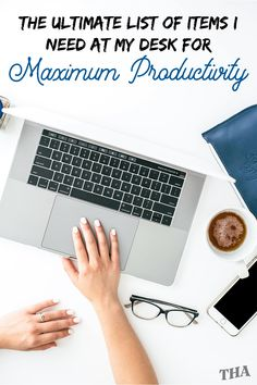 8 Items I Need At My Desk For Maximum Productivity College Packing Tips, College Hacks, Creating A Business, Home Based Business, Desk Essentials, Organization Skills, Time Management Tips, Study Motivation, Get The Job