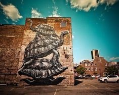 Roa mural at 11 South 18th St, Richmond, VA