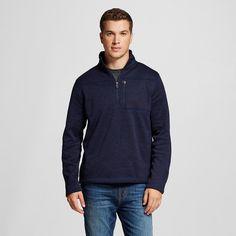 Men's Quarter Zip Sweater Fleece Navy (Blue) XL - Merona