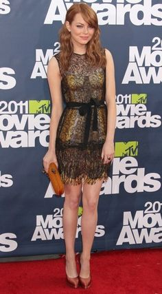 Emma Stone// I wuv hers! And her dress.