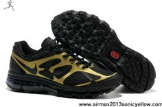 New Mens Nike Air Max 2012 Black Metallic Gold 487982-002 Shoes Store