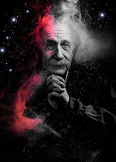"""They once asked Einstein: What is the most important question any person could ask for? He replied: """" Is the Universe a friendly place? Special Relativity, Theory Of Relativity, Albert Einstein Pictures, Drawing Cartoon Faces, Galaxy Wallpaper, Science Art, Selfie, Fractal Art, Cool Pictures"""