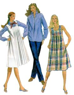Maternity Sewing Pattern McCalls 7464 Pleated Jumper Dress, 3/4 Button Front Long Sleeve Top/Blouse Straight Leg Pants Size 20 by FindCraftyPatterns on Etsy https://www.etsy.com/listing/185909261/maternity-sewing-pattern-mccalls-7464