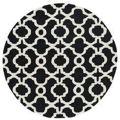 Mercury Row Bodine Hand-Tufted Black / Ivory Area Rug Rug Size: 8' x 11'