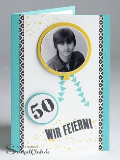 50 - so alt. ~ Stampin' Up! Stamping Up, 50th, Workshop, Diy Crafts, Invitations, Crafty, Birthday, Wrapping, Moms 50th Birthday
