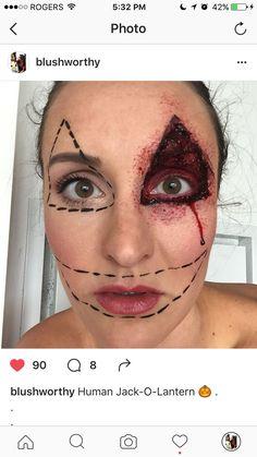 FacePaint Halloween Makeup MUA Wolfe face paint day of the dead ...