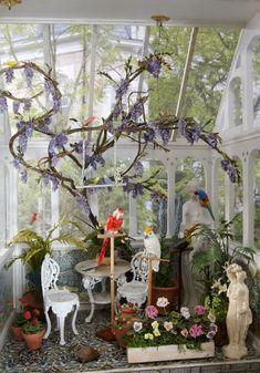 dollshouses10-%20049 (jt-beautiful miniature conservatory from Caroline Hamilton and Jane Fiddick's dolls houses)